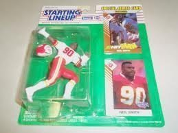 1993 Neil Smith NFL Starting Lineup Kansas City Chiefs