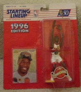 Dikembe Mutombo 1996 Edition Starting Lineup NBA Action Figure Atlanta Hawks Extended Series