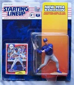 Eric Karros of Los Angeles Dodgers Action Figure - MLB 1994 Edition Starting Lineup Sports Superstar Collectible