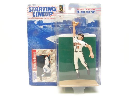 Brady Anderson Action Figure - 1997 10th Year Edition Starting Lineup MLB Major League Baseball Series