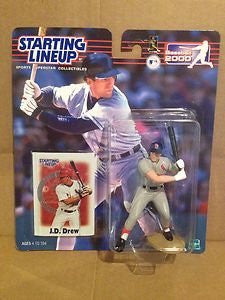 J.D. Drew Batting Action Figure in St. Louis Cardinals Uniform - Starting Lineup Baseball 2000 Series
