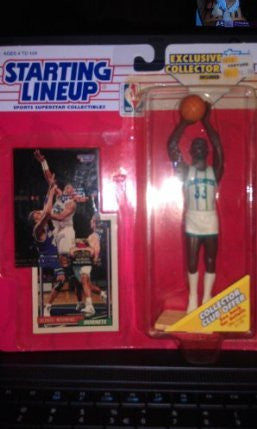 1993 NBA Starting Lineup - Alonzo Mourning - Charlotte Hornets