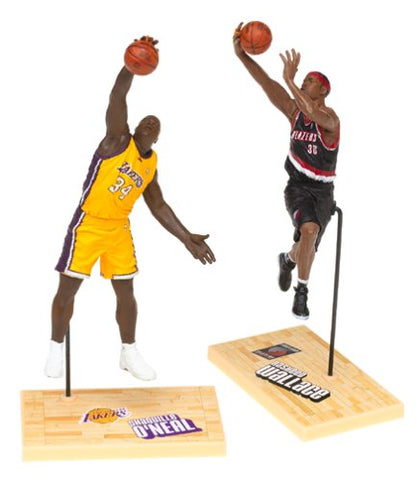 McFarlane Toys NBA 3 Inch Sports Picks Series 1 Mini Figures 2Pack Shaquille ONeal (Los Angeles Lakers) Rasheed Wallace (Portland Trailblazers)