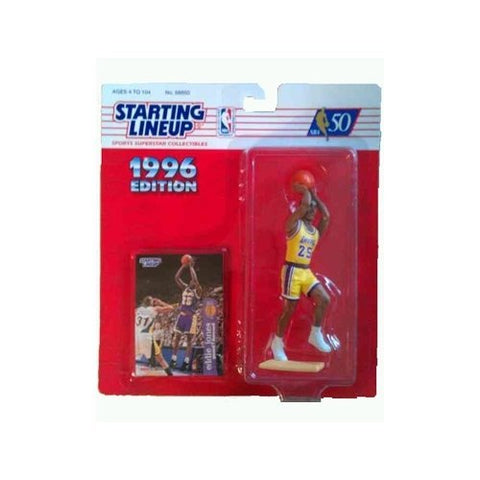 Starting Lineup 1996 Edition Eddie Jones - Los Angeles Lakers 4 inch Action Figure