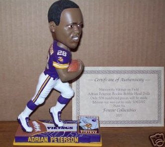 Adrian Peterson Rookie Bobblehead Minnesota Vikings MIB First Edition Numbered