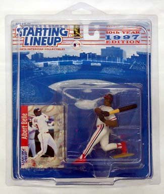 Starting Lineup Albert Belle Baseball Sports Super Star Collectible Figure - 1997 Edition Cleveland Indians
