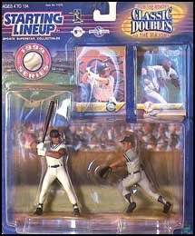 1999 Derek Jeter MLB Classic Doubles From the Minors to the Majors Starting Lineup Figures