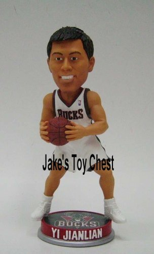 Yi Jianlian Bobblehead Forever Collectibles 7 Inch Rookie bobblehead Milwaukee Bucks Now with Washington Wizards in Collectors Box Individually numbered