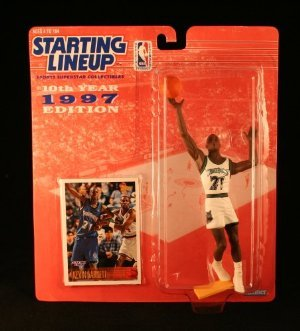 KEVIN GARNETT / MINNESOTA TIMBERWOLVES * 1997 * NBA Starting Lineup & Exclusive TOPPS Collector Trading Card