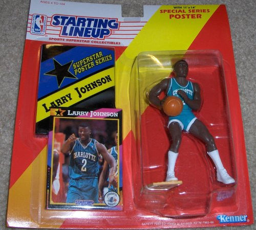 Larry Johnson 1992 NBA Starting Lineup Charlotte Hornets
