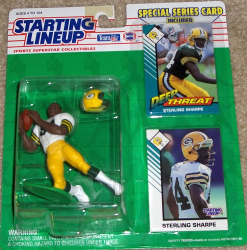 1993 Sterling Sharpe Green Bay Packers Starting Lineup NFL Football Figure