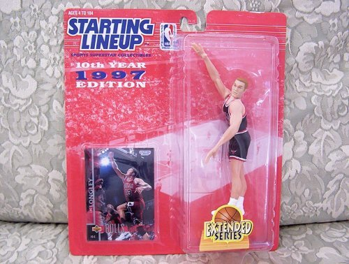 1997 NBA Starting Lineup Extended Series - Luc Longley - Chicago Bulls