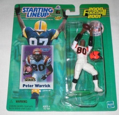 2000 Peter Warrick White Jersey Extended Series NFL Starting Lineup Cincinnati Bengals