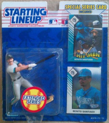 1993 Benito Santiago MLB Extended Series Starting Lineup Florida Marlins