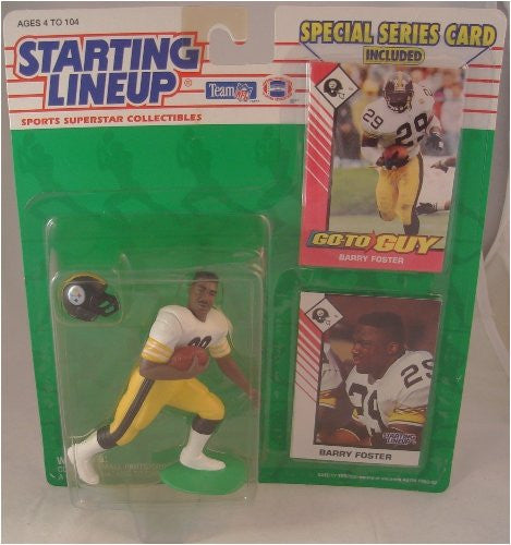 Starting Lineup NFL Football Barry Foster Pittsburgh Steelers 1993 Action Figure