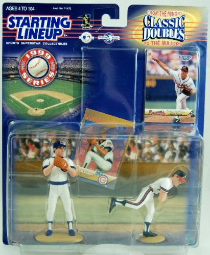 1999 Starting Lineup Classic Double Greg Maddux Iowa Cubs/Atlanta Braves  Minors to Majors