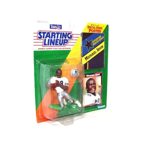 1992 Michael Irvin Dallas Cowboys Kenner SLU Starting Lineup NFL football figure