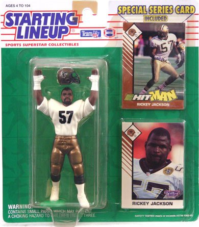 1993 Rickey Jackson New Orleans Saints Starting Lineup NFL Football Figure