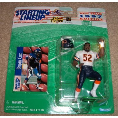 Starting Lineup Sports Super Star Collectible Figure - 1997 - Chicago Bears Bryan Cox by NFL