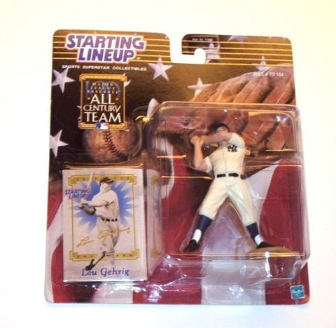 2000 MLB All Century Team Starting Lineup - Lou Gehrig - New York Yankees