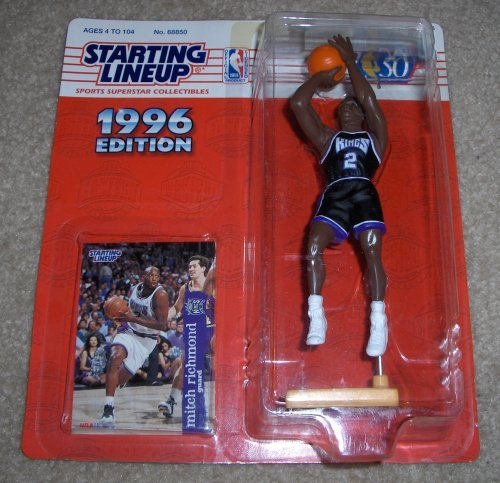 Mitch Richmond Action Figure - 1996 Edition Starting Lineup Sports NBA Superstar Collectible with Collector's Card Sacramento Kings
