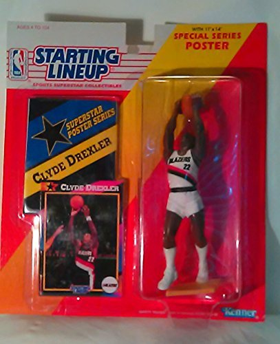 1992 Clyde Drexler Action Figure by Starting Line Up Portland Trailblazers