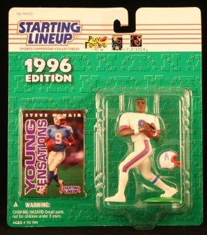 STEVE MCNAIR / HOUSTON OILERS 1996 NFL Starting Lineup Action Figure & Exclusive NFL Collector Trading Card