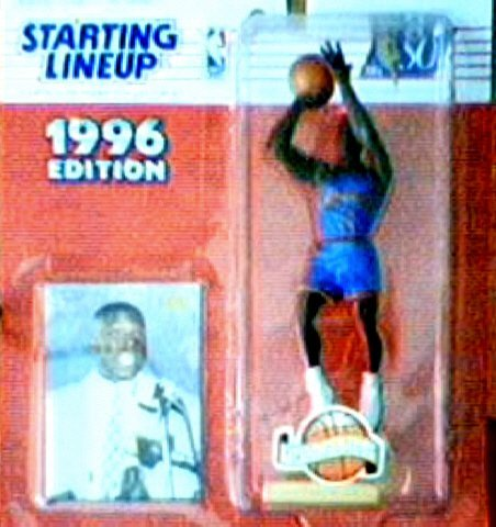 Larry Johnson 1996 Starting Lineup NBA Action Figure Charlotte Hornets Extended Series