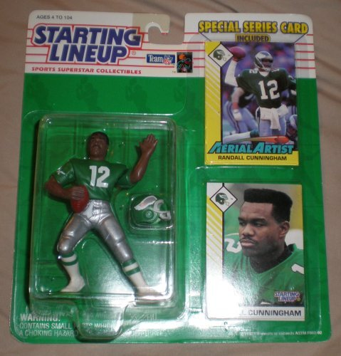 1993 Randall Cunningham Philadelphia Eagles Kenner Starting Lineup NFL Football Figure