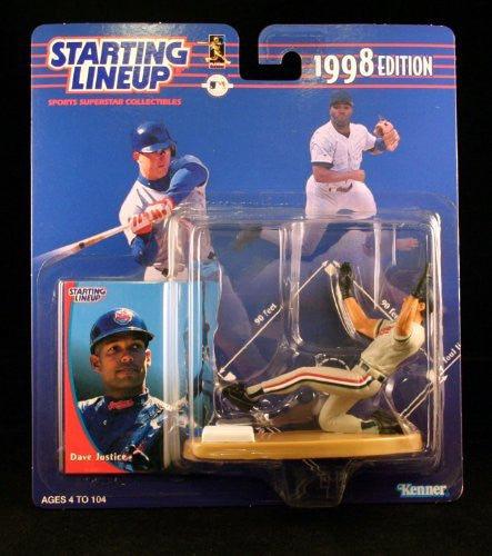 Dave Justice Action Figure of the Cleveland Indians - 1992 Edition Starting Lineup Sports Superstar Collectible