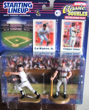 Starting Lineup Classic Doubles 2000 Interleague Play Cal Ripken Jr. and Chipper Jones