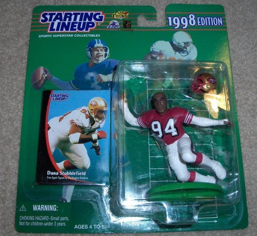 1998 Dana Stubblefield NFL Starting Lineup Figure San Francisco 49ers