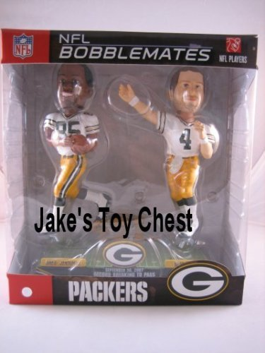 Brett Favre and Greg Jennings Bobblehead 421 Touch Down Record Only 421 were made Green Bay Packers