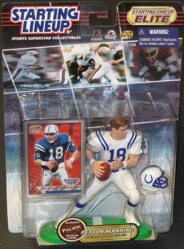 "Peyton Manning ~ RARE 2000 Elite Starting Lineup 6"" & Limited Pacific Trading Card * MINT"