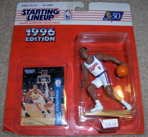 1996 Pooh Richardson NBA Starting Lineup Los Angeles Clippers