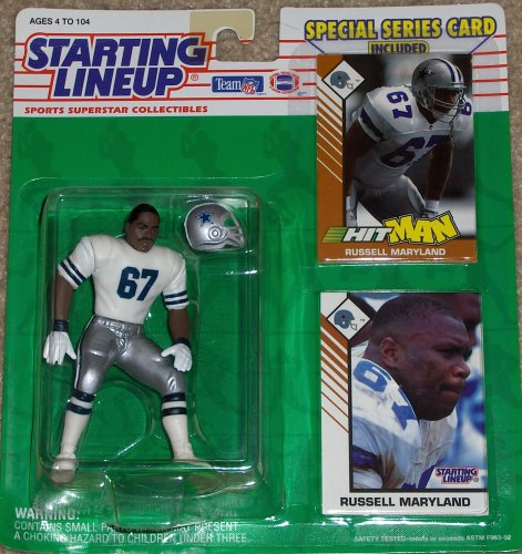 1993 Russell Maryland Dallas Cowboys Starting Lineup NFL football figure