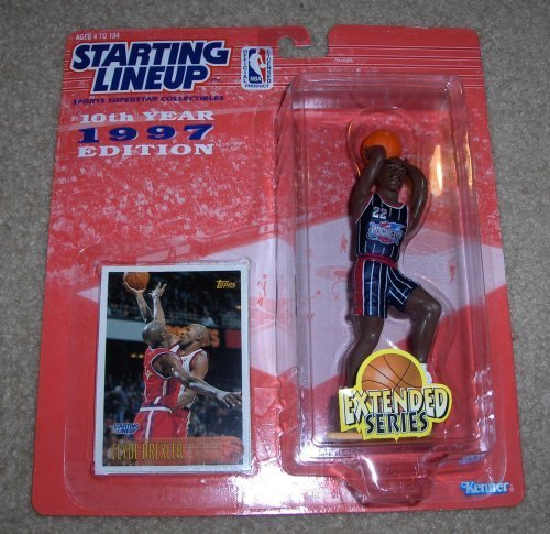 1997 Clyde Drexler NBA Starting Lineup Extended Series Figure Houston Rockets