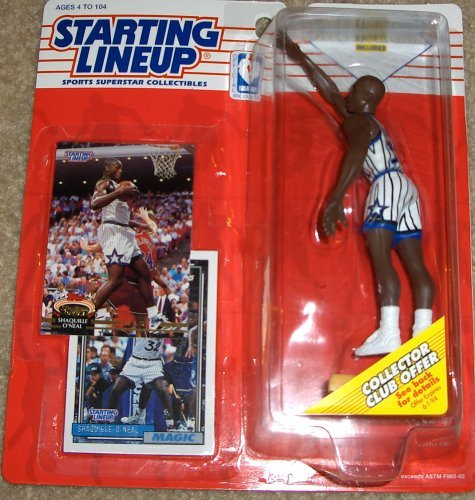 1993 Shaquille O'Neal Orlando Magic Starting Lineup NBA Basketball figure - Rookie piece