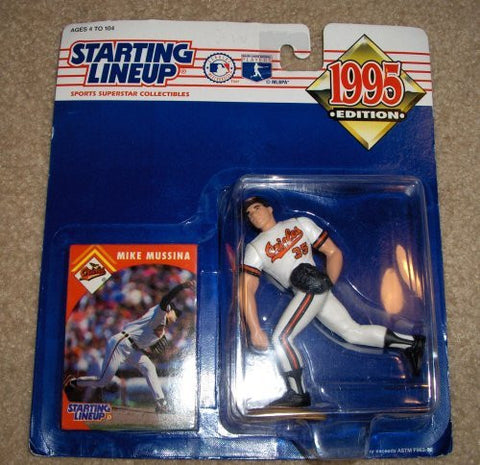 1995 Mike Mussina MLB Baseball Starting Lineup Baltimore Orioles