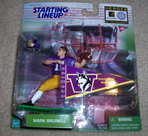 1999 NCAA Football Heroes of the Gridiron Starting Lineup - Mark Brunell - University of Washington