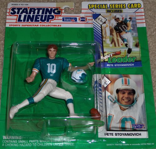 1993 Pete Stoyanovich Miami Dolphins Starting Lineup NFL Football Figure