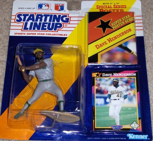 1992 Dave Henderson MLB Starting Lineup Oakland Athletics