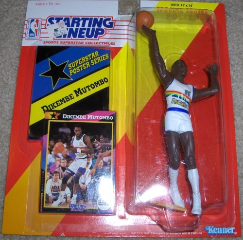 Dikembe Mutombo 1992 NBA Starting Lineup Denver Nuggets
