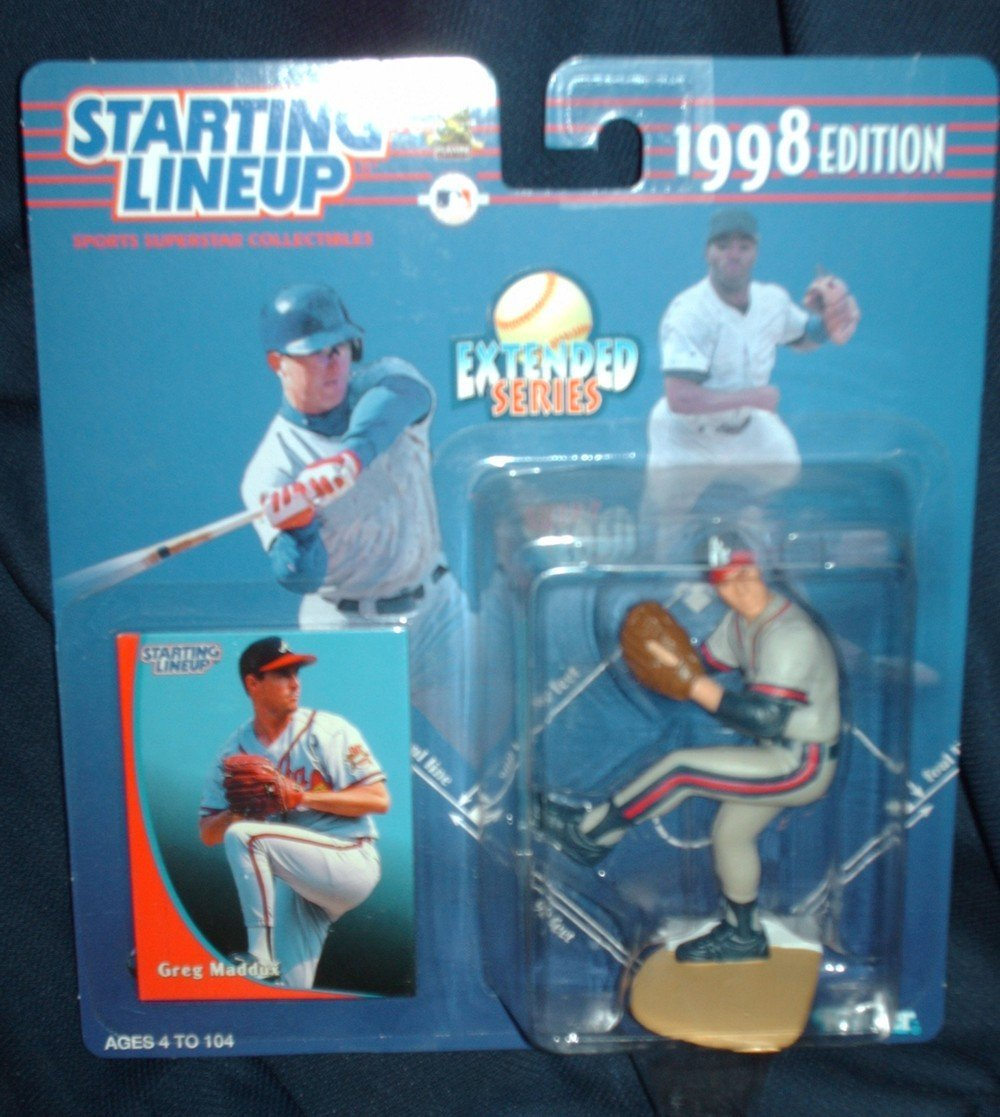 1998 Starting Lineup Greg Maddux Action Figure Extended Series Atlanta Braves