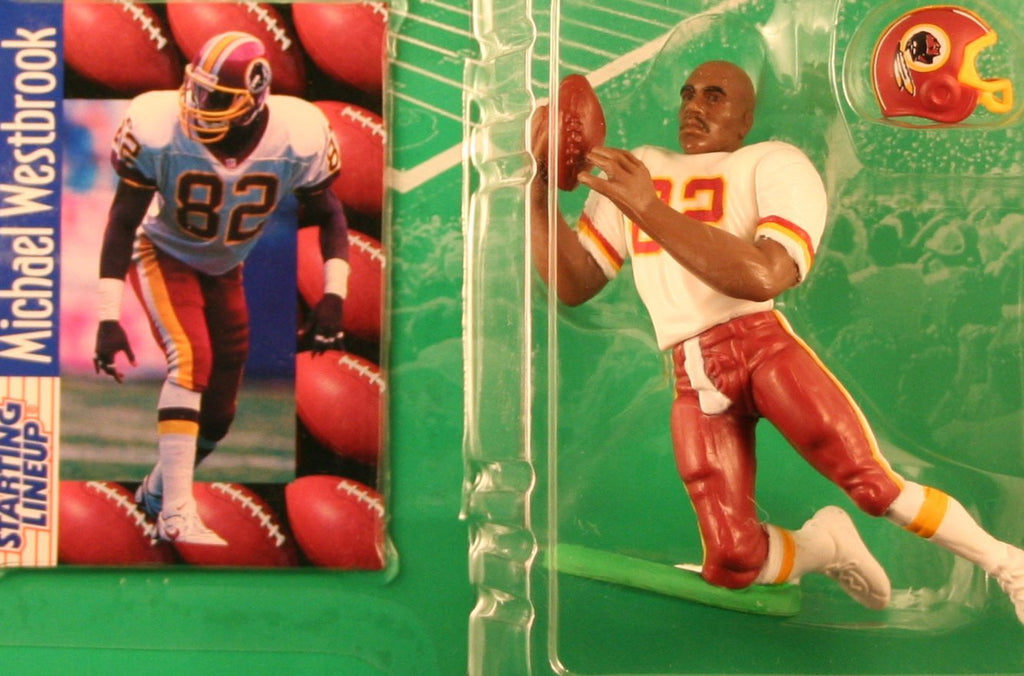 MICHAEL WESTBROOK / WASHINGTON REDSKINS 1997 NFL Starting Lineup Action Figure & Exclusive NFL Collector Trading Card
