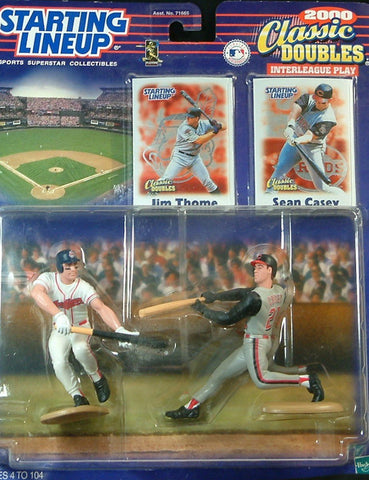 2000 Starting Lineup Classic Doubles Jim Thome/Sean Casey Action Figures