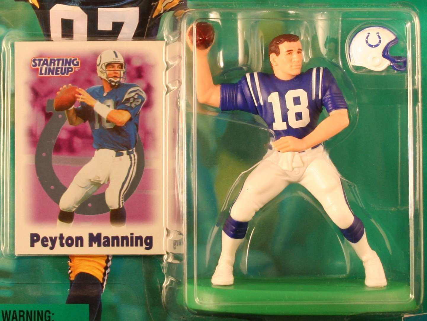 PEYTON MANNING / INDIANAPOLIS COLTS 2000-2001 NFL Starting Lineup Action Figure & Exclusive NFL Collector Trading Card