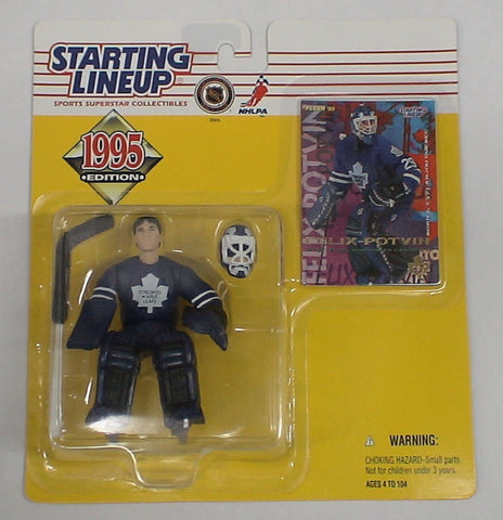 STARTING LINEUP 1995 HOCKEY TORONTO MAPLE LEAFS FELIX POTVIN MOC