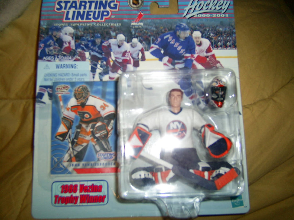 JOHN VANBIESBROUCK / NEW YORK ISLANDERS 2000-2001 NHL Starting Lineup Action Figure & Exclusive Collector Trading Card
