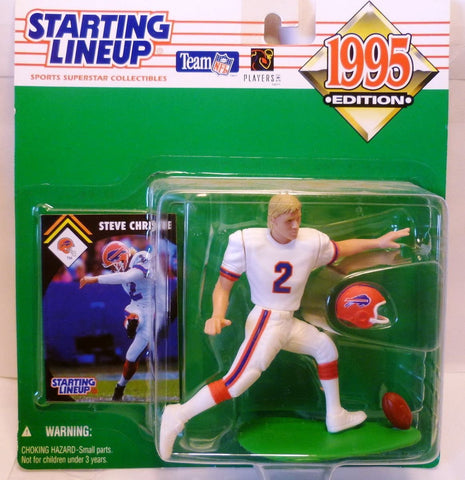 1995 Steve Christie NFL Starting Lineup Figure Buffalo Bills
